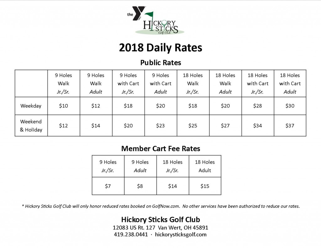 2018 Daily Rates